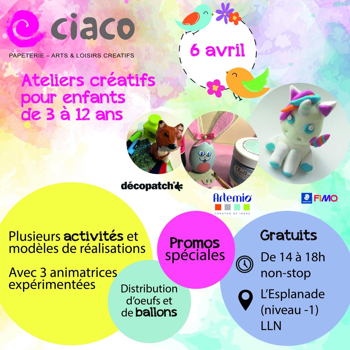 Ateliers créatifs - 6 avril 2019