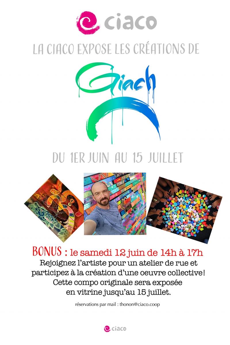 Expo et atelier de rue avec Giach
